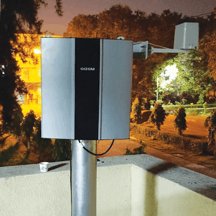 Oizom installed Polludrone Ambient Air Monitoring Equipment for city pollution monitoring.