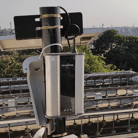 Surat city monitors air quality using Environmental Quality Monitoring system for the better environmental health of the city.