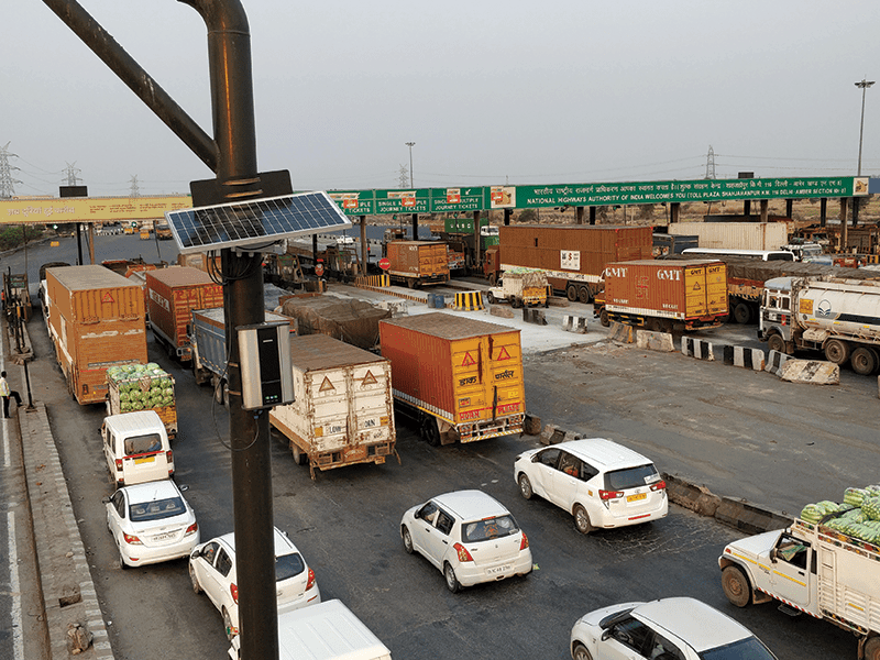 Vehicles in queue at toll booths generate more pollution which can be reduced by Outdoor Pollution Monitoring System.