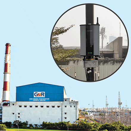Oizom provides Pollution Monitoring System for industries to monitor the air pollution of GMR Thermal Power Plant.