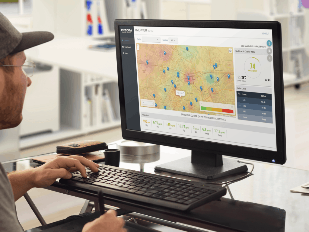Low-cost air quality monitors with integrated sensors and environmental software to provide geospatial monitoring for environmental monitoring even in remote areas.