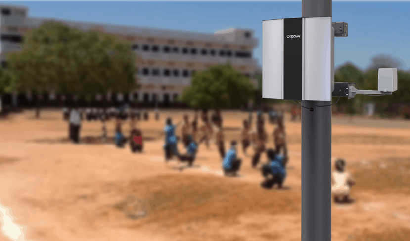 Polludrone Air Quality Monitoring Station installed in School Campus for Air Quality Monitoring.