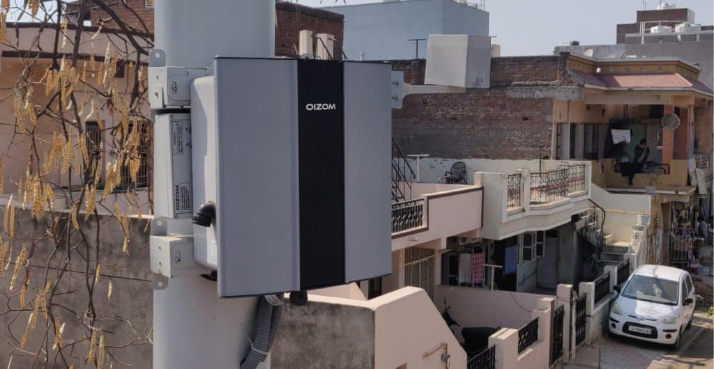 Oizom ambient air quality monitoring system installed for air quality monitoring.