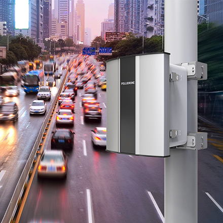 Polludrone Air Pollution Monitoring System can monitor traffic pollution to help manage traffic and reduce vehicle emission.