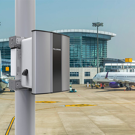 Polludrone Air Pollution Monitoring Equipments can monitor airport pollution to aware travellers for taking precautionary actions.