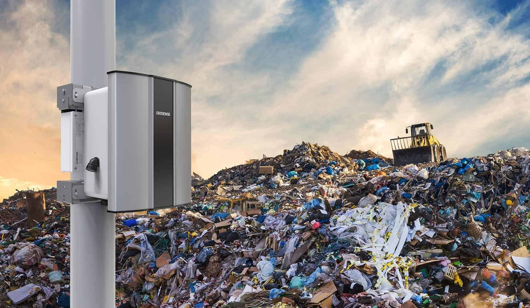 Odosense e nose-based Odour Monitoring System can monitor the odor from the landfills and dumpyards in real-time.