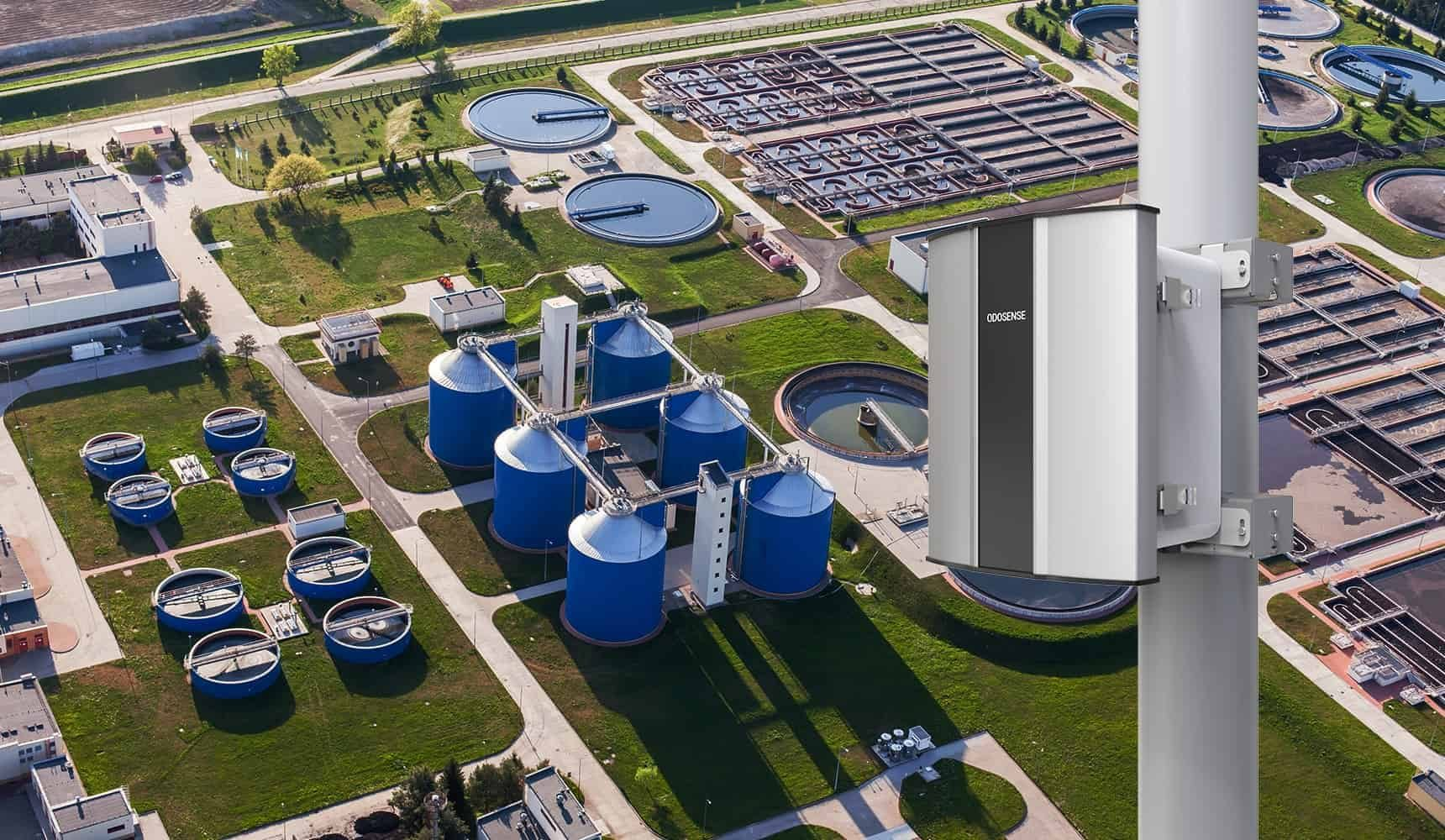 Odosense e nose-based Odor Monitoring System monitors the odor emission from the STP or WWTP tanks to provide odor suppression solutions.