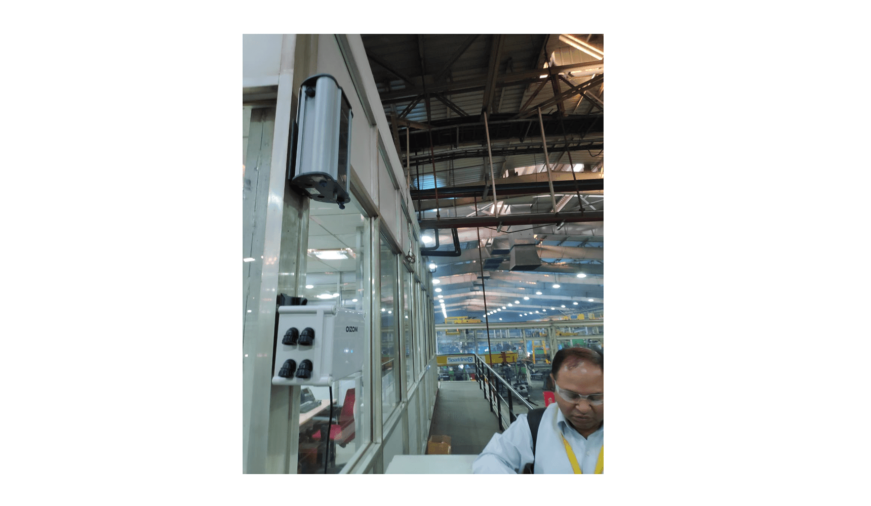Dustroid Particulate Sensor data helps automate the Air purifier inside JCB plant as the dust level breaches the threshold.
