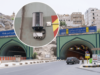 Oizom installed Polludrone Outdoor Air Pollution Sensor for Traffic Pollution Monitoring inside the Abdul Aziz Tunnel.