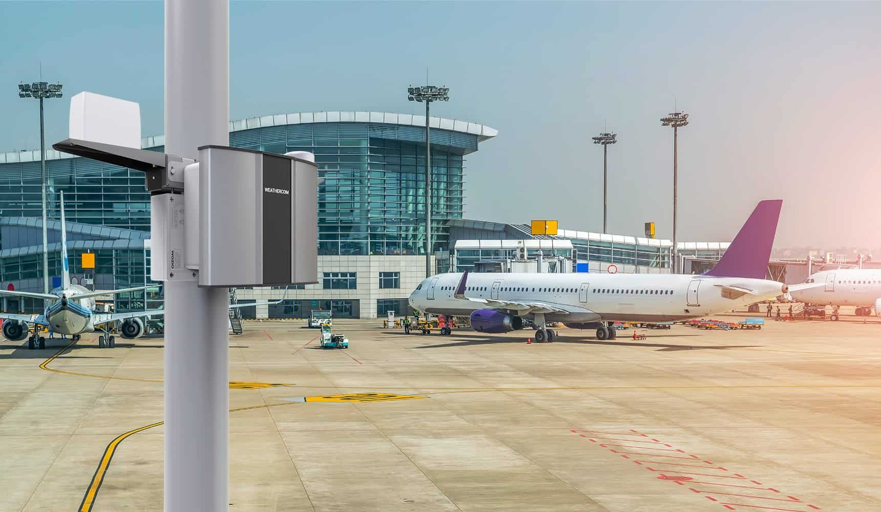 Oizom Automatic Weather Station installed at ports can provide seaport or airport pollution data.